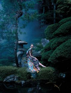 "Photographer Tim Walker first came to Japan: the British version of ""VOGUE"" photographed modern Ukiyo-e 4"
