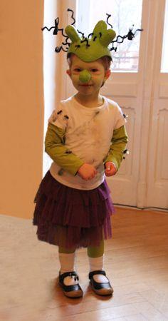 Faschingskostüm Olchi Mädchen, Kinder Fasching Olchis selbstgemacht