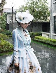 Model Show (White + Light Blue Ver.) jacket CT00268, dress DR00189