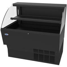 "Federal ELPRSS-6 70.75"" Horizontal Open Air Cooler w/ (2) Levels - Black, 120v"