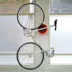 Small Space Bike Storage Solutions (from Apartment Therapy): Cycloc Bicycle Storage from YLiving