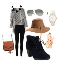 """""""Untitled #7"""" by sophiemily-1 on Polyvore featuring Max Studio, Clarks, Maison Michel and Ray-Ban"""