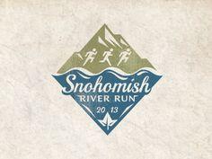 Unique Logo Design, Snohomish River Run 2 Logo, Typo Logo, Badge Logo, Logo Branding, Branding Design, Typography Love, Graphic Design Typography, Logo Inspiration, River Logo