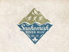 Unique Logo Design, Snohomish River Run #logo #design (http://www.pinterest.com/aldenchong/)