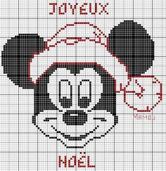 noël - christmas - mickey - point de croix - cross stitch - Blog : http://broderiemimie44.canalblog.com/