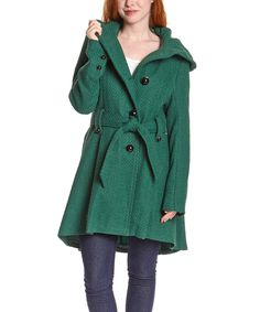 Look at this Steve Madden Green Drama Hooded Coat on #zulily today!