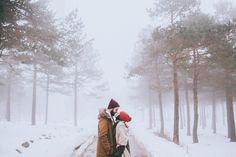 Forester Fotógrafos -Pre boda en bizkaia | Sesión de pareja en la nieve