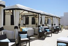 Take time with friends and enjoy the privacy of the cabanas located on the upper deck of The Pearl Hotel. Have a special event? Contact the sales team to reserve a cabana. Havana Beach, Watercolor Florida, Rooftop Lounge, Outdoor Pool, Outdoor Decor, Rosemary Beach, Panama City Panama, Patio, Upper Deck