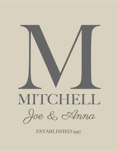 Items similar to Personalized Wedding Gift Family Monogram Name Print - Bridal Shower GIft - Hostess Gift - First Anniversary Paper Gift - on Etsy Personalized Christmas Gifts, Personalized Wedding Gifts, Couple Gifts, Gifts For Family, First Anniversary Paper, Anniversary Ideas, Wedding Anniversary, Custom Wedding Gifts, Gift Wedding