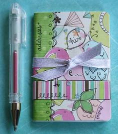 DIY Decorated Mini Address Books- I am slightly obsessed with cute notebooks/notepads!