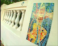 Mosaicos sobre pared