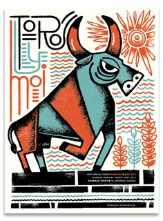 Toro Y Moi poster by Tad Carpenter
