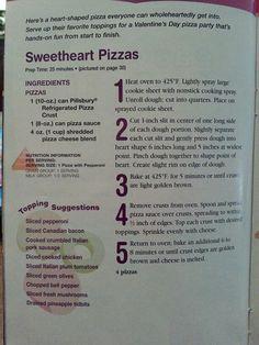 Sweetheart pizza