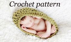 Crochet Pattern - Textured Pod Cocoon Photography Prop