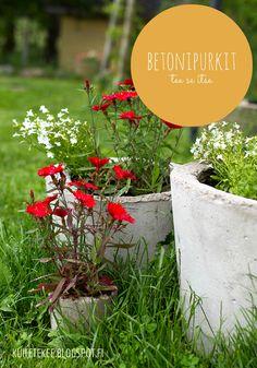 Tee itse hauskat betoniruukut puutarhaan