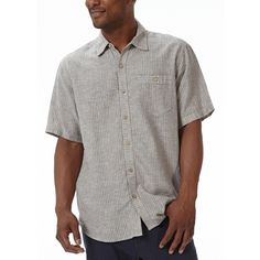You'll love the subtle striping on our Trolley, and revel in its garment-washed, soft, and slub-textured fabric, which is a blend of hemp and organic cotton. This eco-friendly fabric is UV resistant and anti-microbial, and feels wonderful next to the skin. It's a fine choice for summertime date nights or long strolls at dusk.