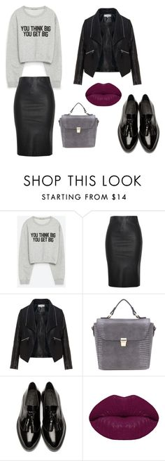 """""""Thursday in leather skirt"""" by go4ned on Polyvore featuring Zara, Relaxfeel, Zizzi, Burberry and Winky Lux"""