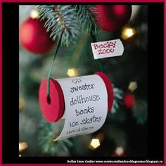Dollar Store Crafter: Turn Empty Tread Spools Into Christmas List Orname...