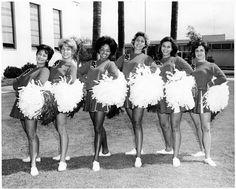 SDSU cheerleaders in the 1960s.