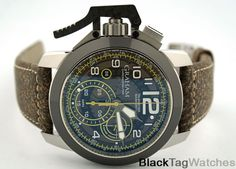 Graham Chronofighter Oversize Target Skeleton  2CCAC.B16A Watch Retail $6900 #Graham #LuxuryDressStyles