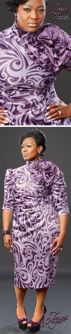 Tawni Haynes Flower Pencil Dress.  Get custom made apparel!  972-754-5096
