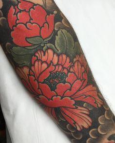 i like horimono. - Healed peony section of this sleeve...