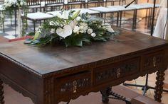 Detalle mesa boda civil en Palacio de la Misión