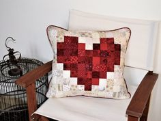 Pdf Sewing Pattern PIXEL HEART PILLOW  Pillow sewing