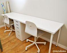 Computer-Schreibtisch mit zwei Personen  #computer #HausIdeen #personen #schreibtisch