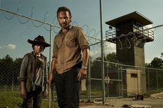 The Walking Dead rick grimes andrew lincoln - Carl Grimes ( Chandler Riggs )
