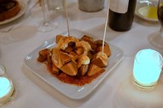 Patatas Bravas from Barcelona wine bar http://atlanta-restaurantblog.com/2014/01/barcelona-wine-bar-tapas-and-then-some/