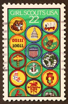 Girl Scout badges USA postage stamp ~ Girl Scouts