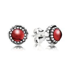 Garnet January Birthstone Earrings - PANDORA