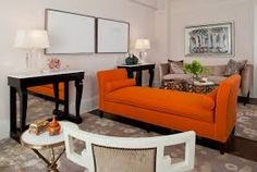 Image result for burnt orange AND LIGHT BLUE color scheme decor