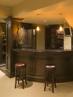 Home Bar Design Ideas for Basements, Bonus Rooms or Theaters : Kitchen Remodeling : HGTV Remodels