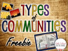 This FREEBIE is a small sample of the complete no-prep unit. This freebie contains foldable activities for Rural, Urban, and Suburban communities. These foldable activities are perfect for interactive notebooks or lapbooks!