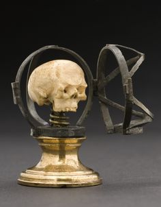 Miniature ivory skull in a silver case, Europe, 1840-1920. Science Museum, LONDON.