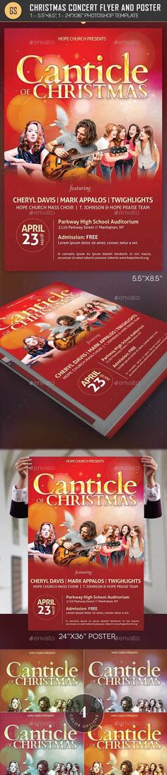 Worship Concert Poster Templates PSD Download here
