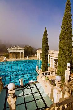 Pool at the Hearst Castle in San Simeon, California