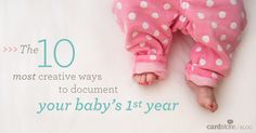 The 10 most creative ways to document your baby's first year. I pretty much love all of these! We can do a different one for each baby 😉 Baby Mine, My Baby Girl, Our Baby, Baby Pictures, Baby Photos, Babies First Year, 1st Year, Everything Baby, Baby Hacks