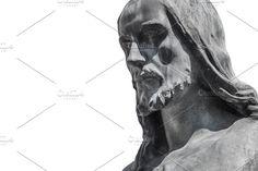 Fragment of Jesus Christ statue as a symbol of love, faith and religion. Jesus Christ Statue, Jesus Face, Grunge Art, Photo Style, Solomon Islands, Ivory Coast, Love Symbols, Papua New Guinea, Republic Of The Congo