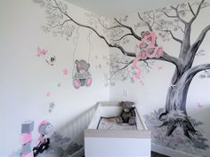 Babykamer muurschilderij van Me to You beertjes door Saskia de Wit