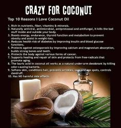 Benefits of Coconut  What's your favorite way to use coconut oil?