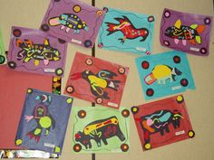Beautiful native art project-norval morrisseau Art Lessons For Kids, Artists For Kids, Art For Kids, First Grade Art, 5th Grade Art, American Indian Art, Native American Art, Native Art, Indigenous Art