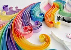 Unicorn quilling wall art Unicorn picture от TheBeehiveHandmade