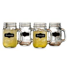 Chalkboard Mason Jar Glasses 17.5 oz4pk by LeCoquetterieShop, $16.99