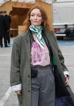 Audrey Marnay in casual FW outfit | For more style inspiration visit 40plusstyle.com