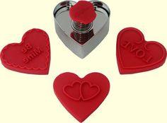 Valentine Push N Print  Cookie Cutter Set   by ToppyToppyKnits, $8.00