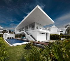 Freshome Idea - Luxury Minimalist Home Design in GM1 House, Colombia