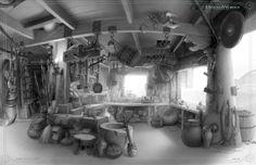 p3 blacksmithshop iuri lioi 580x375 Art of How to Train Your Dragon 2